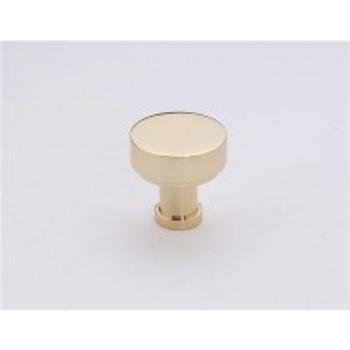"Alno, Moderne, 1"" Round Knob, Polished Brass"