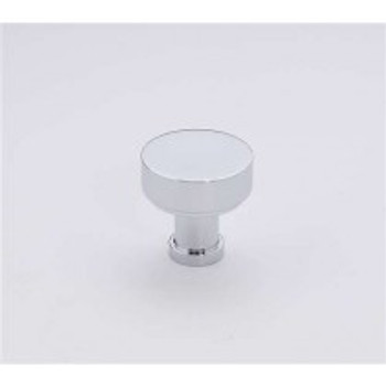 "Alno, Moderne, 1"" Round knob, Polished Chrome"