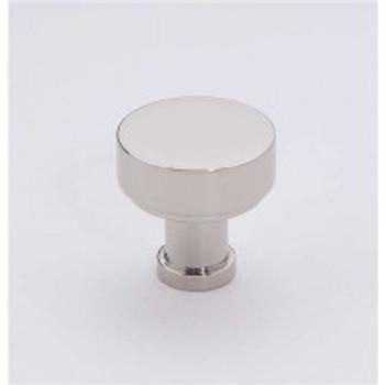 "Alno, Moderne, 1"" Round knob, Polished Nickel"