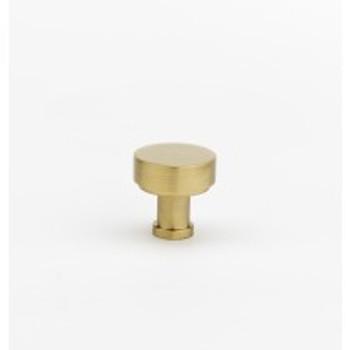 "Alno, Moderne, 1"" Round knob, Satin Brass"