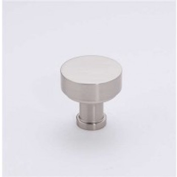 "Alno, Moderne, 1"" Round knob, Satin Nickel"