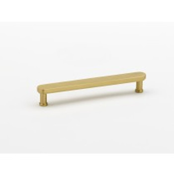 "Alno, Moderne, 6"" Bar pull, Satin Brass"