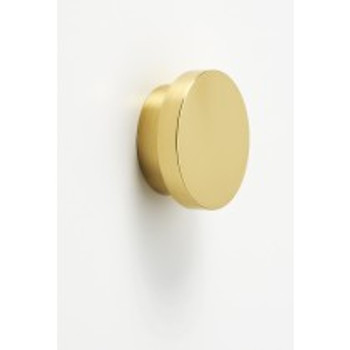 "Alno, Redondo, 1 1/2"" Round Knob, Polished Brass"