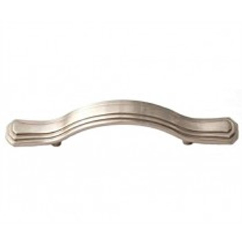 "Alno, Geometric, 3"" Round End Curved Pull, Satin Nickel"