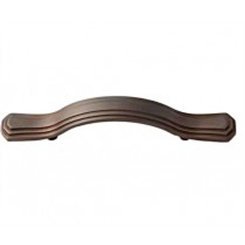 "Alno, Geometric, 3 1/2"" Round End Curved Pull, Chocolate Bronze"