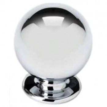 "Alno, Knobs, 5/8"" Round ball knob, Polished Chrome"