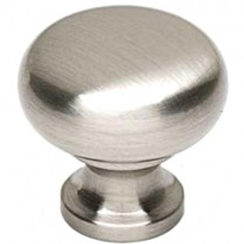 "Alno, Knobs, 7/8"" Round Mushroom knob, Satin Nickel"