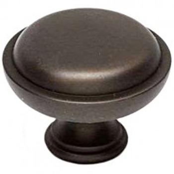 """Alno, Knobs, 1 1/2""""  Round Button knob, Chocolate Bronze"""