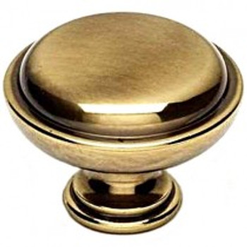 "Alno, Knobs, 1 1/2""  Round Button knob, Polished Antique"