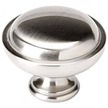 """Alno, Knobs, 1 1/2""""  Round Button knob, Satin Nickel"""