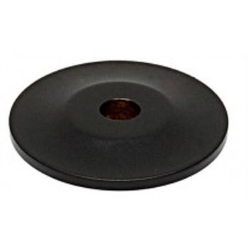 "Alno, Knobs, 1"" Round knob backplate, Matte Black"