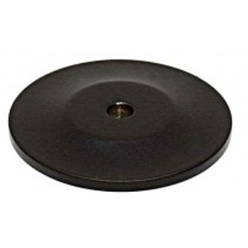 "Alno, Knobs, 1 1/4"" Round knob backplate, Matte Black"