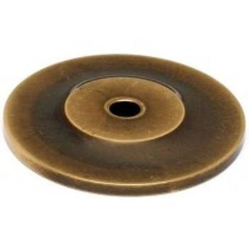 "Alno, Knobs, 1 1/2"" Round knob backplate, Antique English Matte"