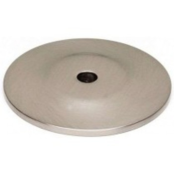 "Alno, Knobs, 1 1/2"" Round knob backplate, Satin Nickel"