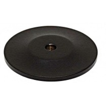 "Alno, Knobs, 1 3/4"" Round knob backplate, Matte Black"