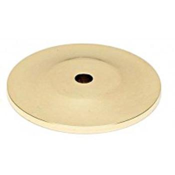 "Alno, Knobs, 1 3/4"" Round Knob Backplate, Polished Brass"