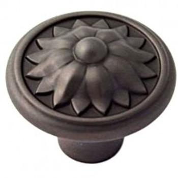 """Alno, Fiore, 1 1/4"""" Round Knob, Bronze"""