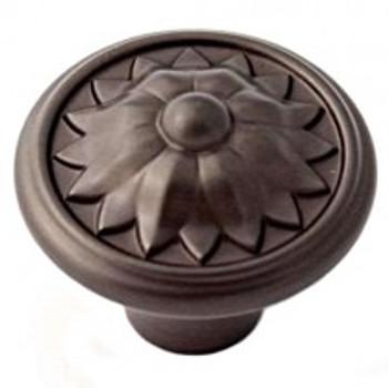 "Alno, Fiore, 1 1/4"" Round Knob, Chocolate Bronze"