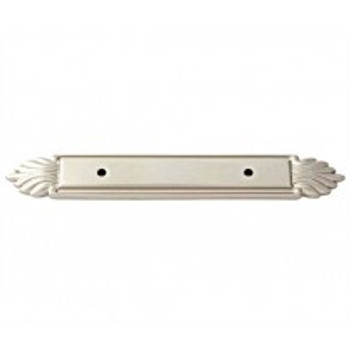 "Alno, Fiore, 3"" Center Pull Backplate, Satin Nickel"