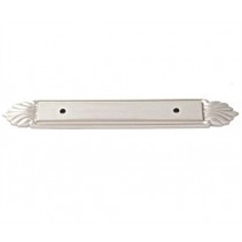 "Alno, Fiore, 3 1/2"" Center pull backplate, Satin Nickel"