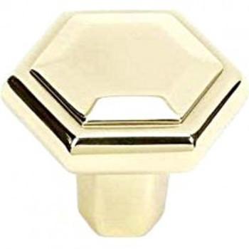 """Alno, Nicole, 1 1/2"""" Knob, Polished Brass"""