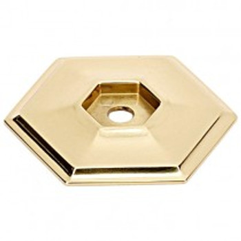 "Alno, Nicole, 1 1/2"" Knob Backplate, Polished Brass"