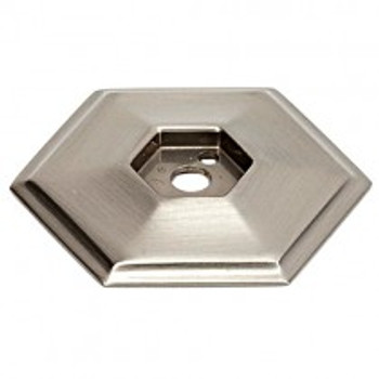 "Alno, Nicole, 1 1/2"" Knob Backplate, Satin Nickel"