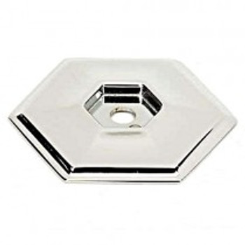 "Alno, Nicole, 1 5/8"" Knob Backplate, Polished Nickel"