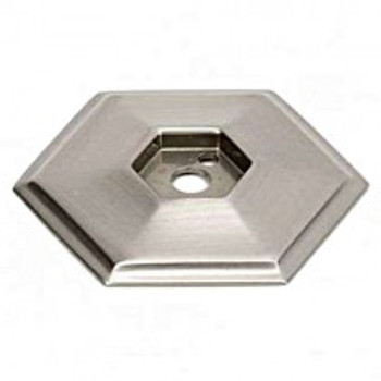 "Alno, Nicole, 1 5/8"" knob backplate, Satin Nickel"