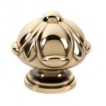 """Alno, Ornate, 1 1/2"""" Domed Round Knob, Polished Antique"""