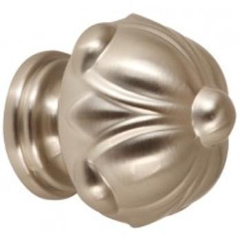 """Alno, Ornate, 1 1/2"""" Domed Round Knob, Satin Nickel"""