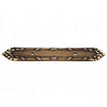 """Alno, Ribbon and Reed, 3"""" Drill Center Pull Backplate, Antique English Matte"""