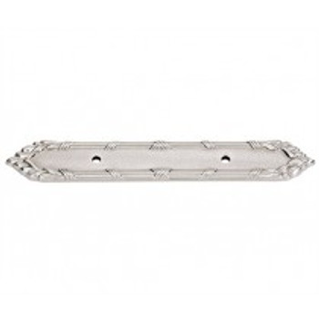 """Alno, Ribbon and Reed, 3"""" Drill Center Pull Backplate, Satin Nickel"""