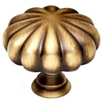 "Alno, Rope, 1 1/2"" Round Melon knob, Antique English Matte"