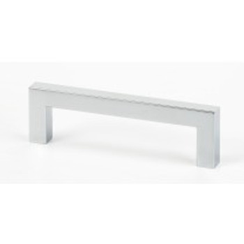 """Alno, Style Cents, 3 7/8"""" Square Ended pull, Polished Chrome"""