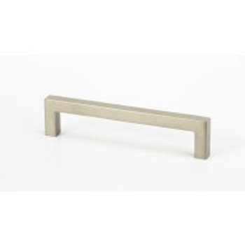 """Alno, Style Cents, 5 1/16"""" (128mm) Square Ended Pull, Satin Nickel"""