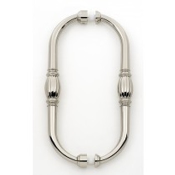 "Alno, Tuscany, 8"" Back-to-Back pull, Polished Nickel"