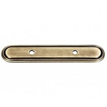 "Alno, Venetian, 3 1/2"" Drill Center Pull backplate, Antique English Matte"