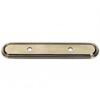 "Alno, Venetian, 3 1/2"" Drill Center Pull backplate, Polished Antique"