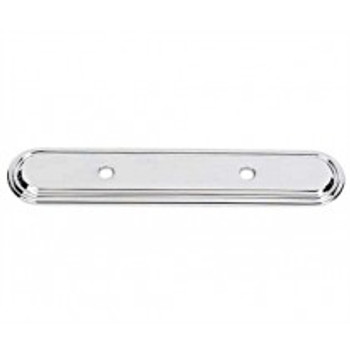"Alno, Venetian, 3 1/2"" Drill Center Pull backplate, Polished Chrome"