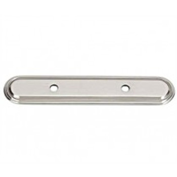 "Alno, Venetian, 3 1/2"" Drill Center Pull backplate, Satin Nickle"