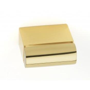 "Alno, Vogue, 11/16"" Length Rectangle knob, Polished Brass"