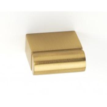 """Alno, Vogue, 11/16"""" Length Rectangle knob, Satin Brass"""