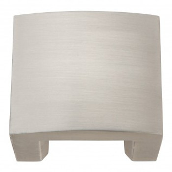 """Atlas Homewares, Centinel, 1 1/4"""" Drill Center Solid Square knob, Brushed Nickel"""