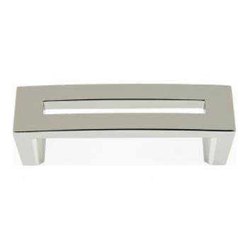 """Atlas Homewares, Centinel, 3"""" Straight Square end pull, Polished Nickel"""