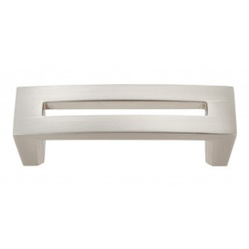 """Atlas Homewares, Centinel, 3"""" Straight Square end pull, Brushed Nickel"""