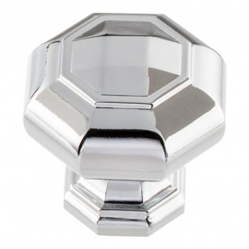 "Atlas Homewares, Elizabeth, 1 1/4"" Octagon knob, Polished Chrome"