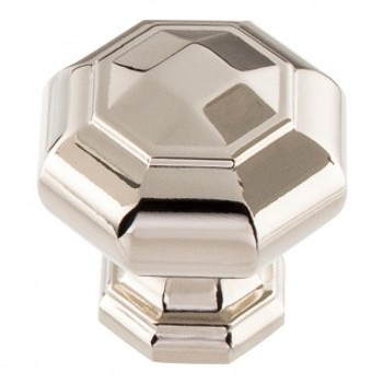 "Atlas Homewares, Elizabeth, 1 1/4"" Octagon knob, Polished Nickel"