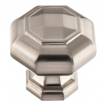 "Atlas Homewares, Elizabeth, 1 1/4"" Octagon Knob, Brushed Nickel"