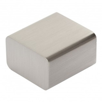 "Atlas Homewares, Element, 1"" Square knob, Brushed Nickel"